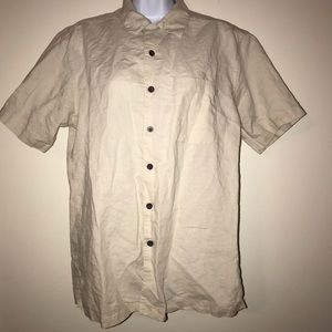 Panama Jack Ivory Button-Down Shirt